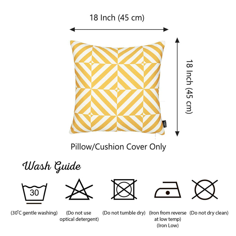 Yellow and White Geometric Squares Decorative Throw Pillow Cover - RichRange | The Best Deals Online: Furniture, Home Decor & More