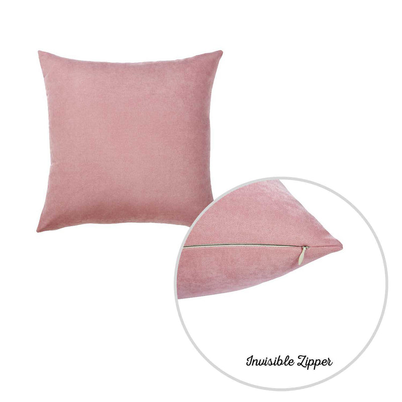 Set of 2 Mauve Pink Brushed Twill Decorative Throw Pillow Covers - RichRange | The Best Deals Online: Furniture, Home Decor & More