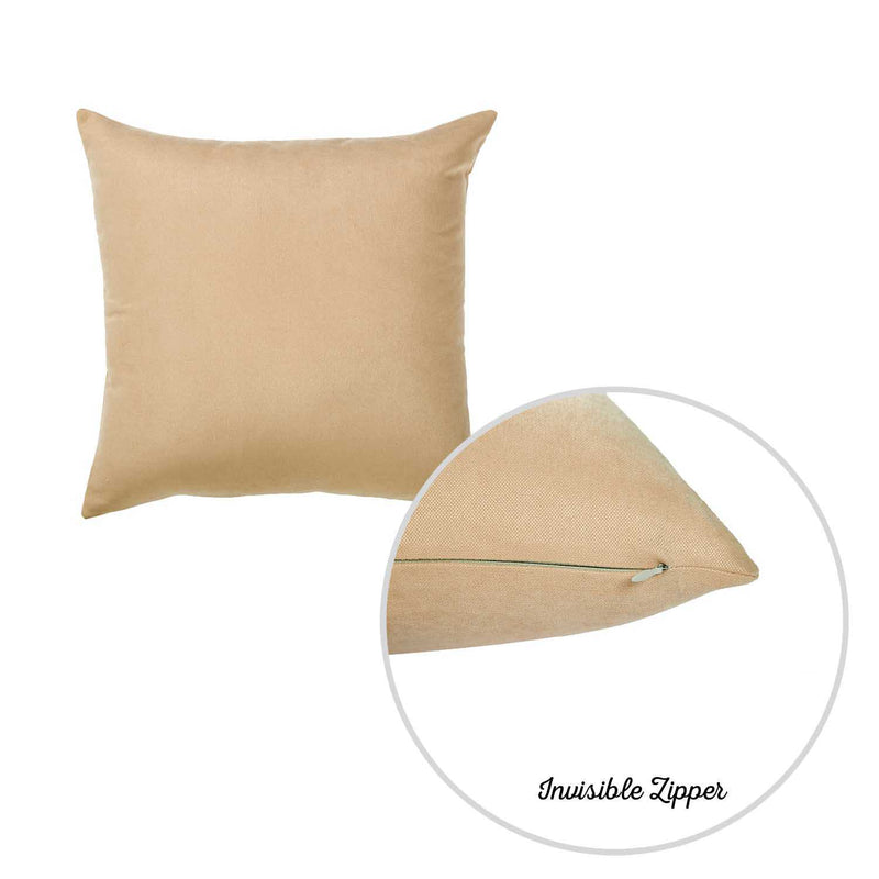 Set of 2 Light Beige Brushed Twill Decorative Throw Pillow Covers - RichRange | The Best Deals Online: Furniture, Home Decor & More
