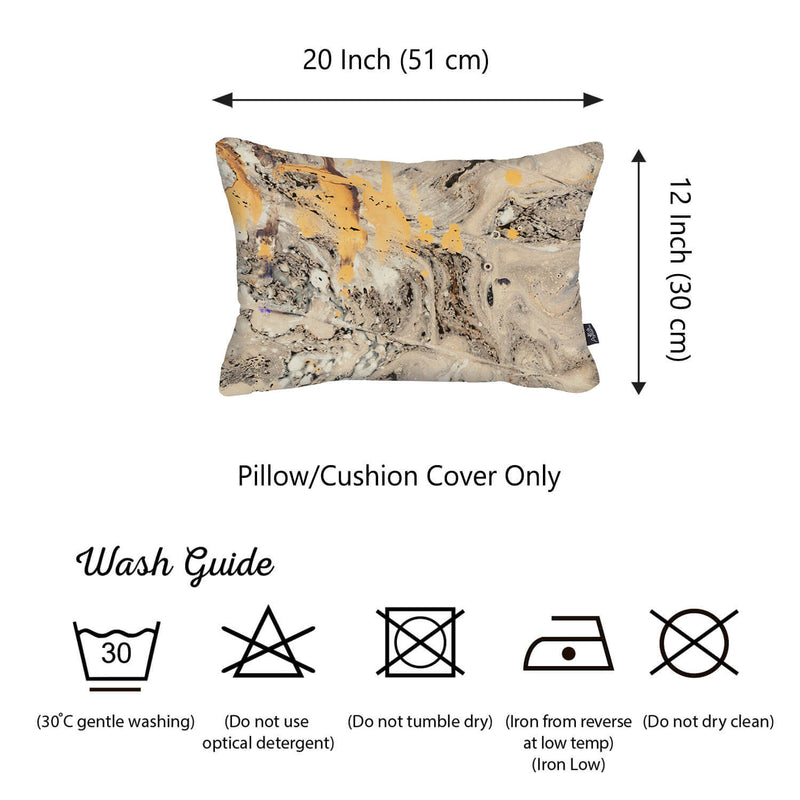 Beige Marble Decorative Lumbar Throw Pillow Cover - RichRange | The Best Deals Online: Furniture, Home Decor & More