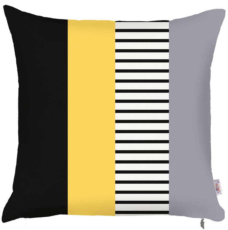 "18""x18"" Mix Colored Scandi Stripes Decorative Throw Pillow Cover"