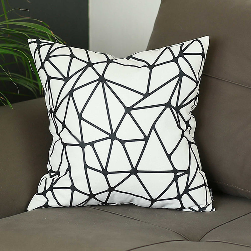 "18""x18"" Skandi BW Tangle Decorative Throw Pillow Cover Printed"
