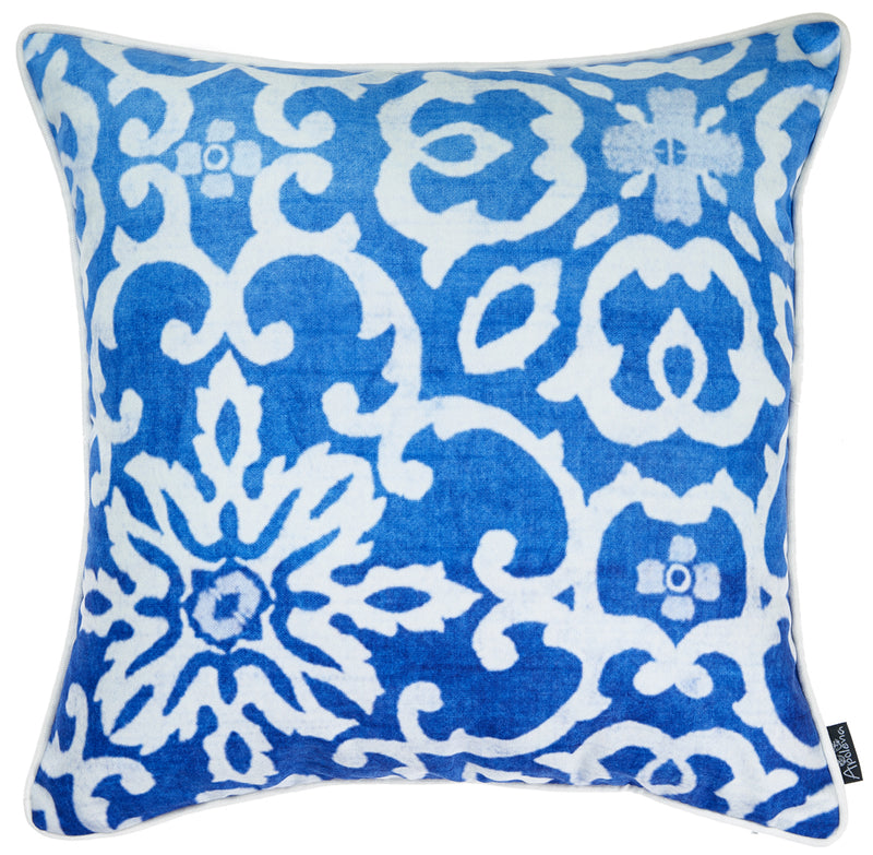 "18""x 18"" Blue Sky Tile Decorative Throw Pillow Cover Printed - RichRange 