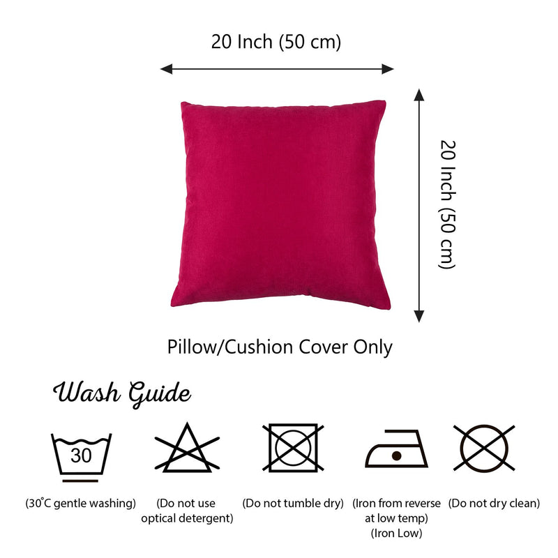 Set of 2 Pink Brushed Twill Decorative Throw Pillow Covers - RichRange | The Best Deals Online: Furniture, Home Decor & More