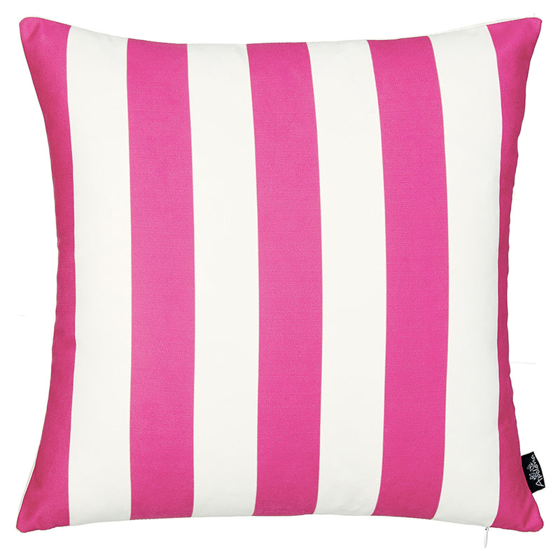 "18""x18"" Pink Stripes Geometric Decorative Throw Pillow Cover"