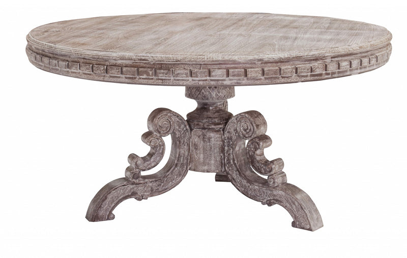 "60"" x 60"" x 30"" Metal Gray Traditional Dining Table"