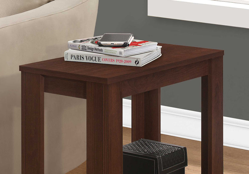 "11.75"" x 23.75"" x 22"" Cherry Particle Board Laminate Accent Table"