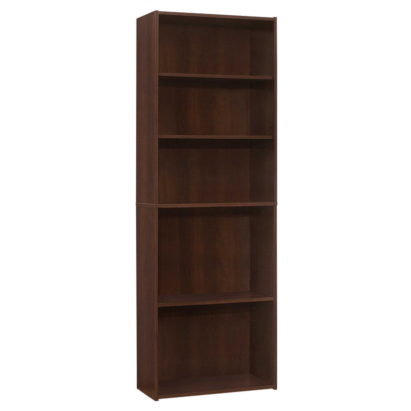 "11.75"" x 24.75"" x 71.25"" Cherry 5 Shelves Bookcase - RichRange 