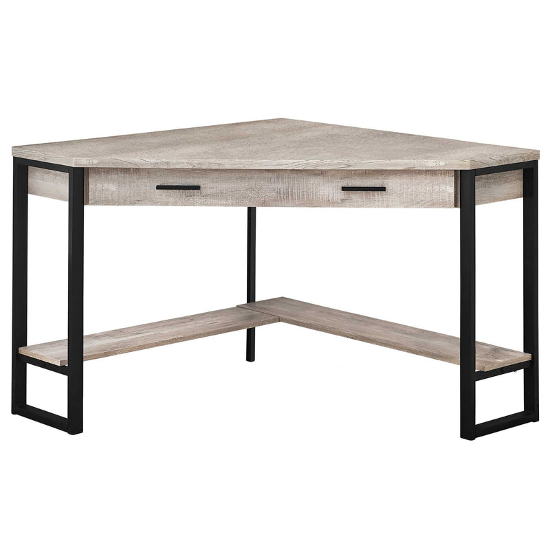 "42"" x 42"" x 30"" Taupe Reclaimed Wood Corner Computer Desk - RichRange 