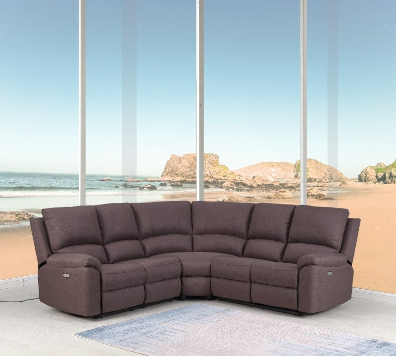 "80"" X 80"" X 39"" Brown Power Reclining Sectional - RichRange 