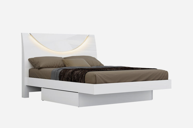 "72"" X 85 X 43"" White California King Bed - RichRange 