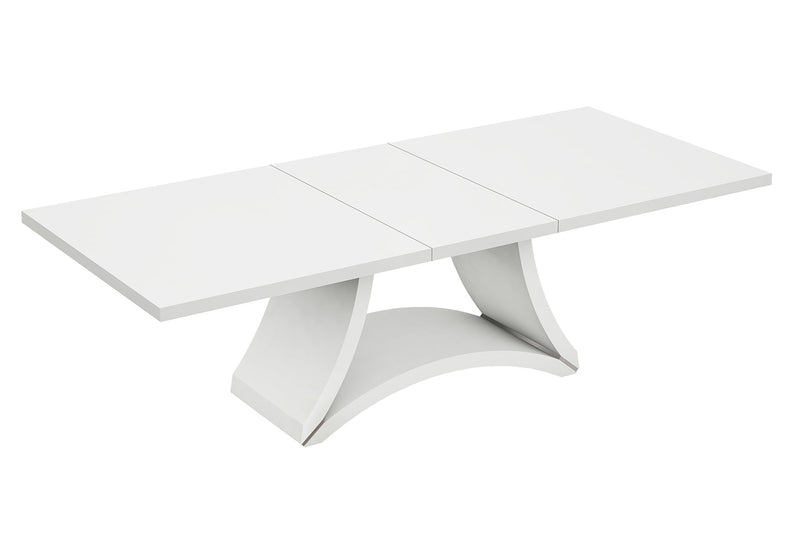 Modern White High Gloss Finish Dining Table