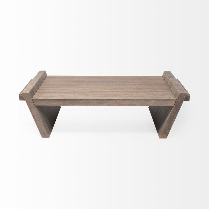 Square Solid Wood Top and Base Coffee Table