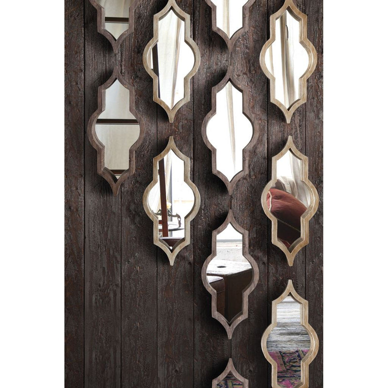 Brown Wood Frame Wall Mirror