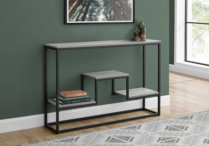 "48"" Rectangular Grey Wash Finish Hall Console Accent Table"