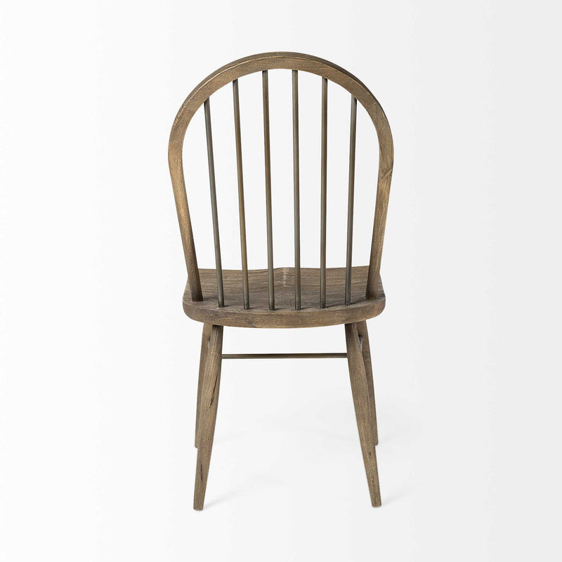 Solid Wood Brown Dining Chair