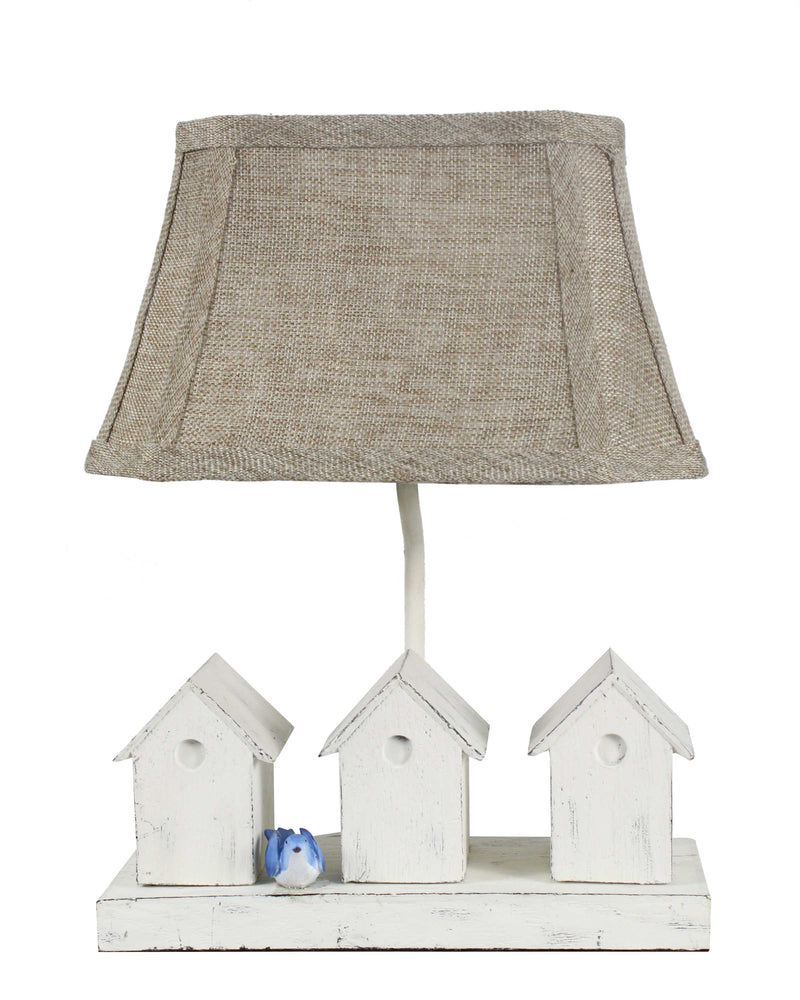 Two birds Wait Patiently on the Bench Accent Lamp