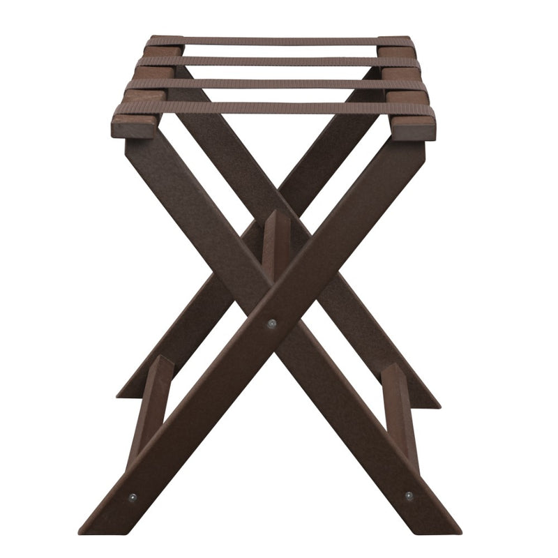 Brown ECO Straight Leg Luggage Rack with 4 Brown Nylon Straps