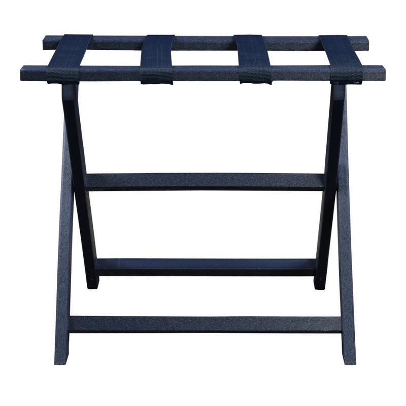 Navy ECO Straight Leg Luggage Rack with 4 Navy Nylon Straps