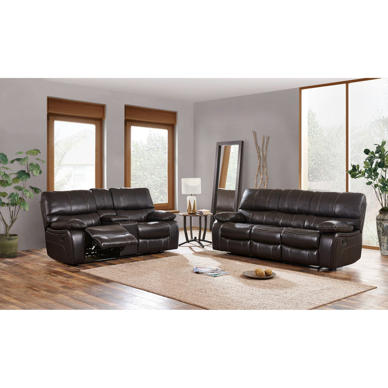 Espresso Black Leather Gel Cover Glider Recliner in Removable Back And Extra Plush Cushions