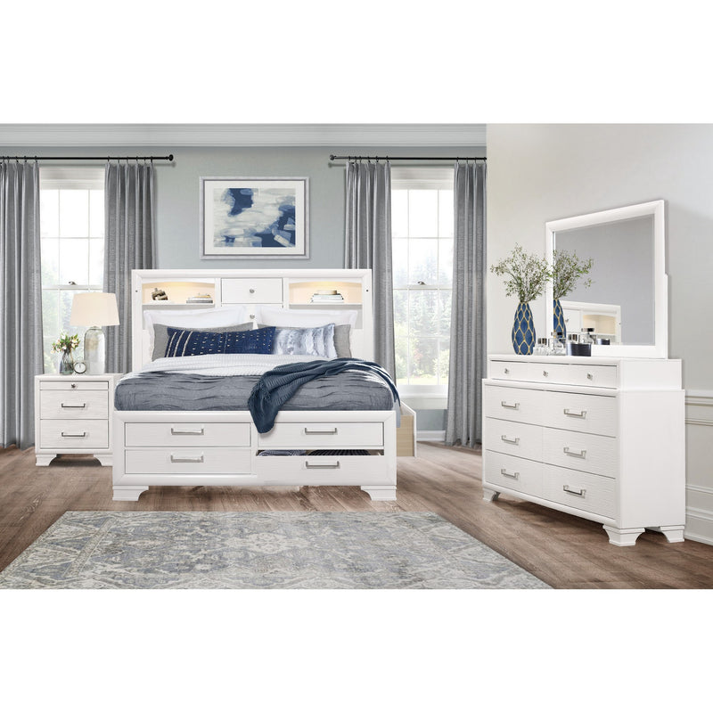 White Nightstand with 3 Drawers