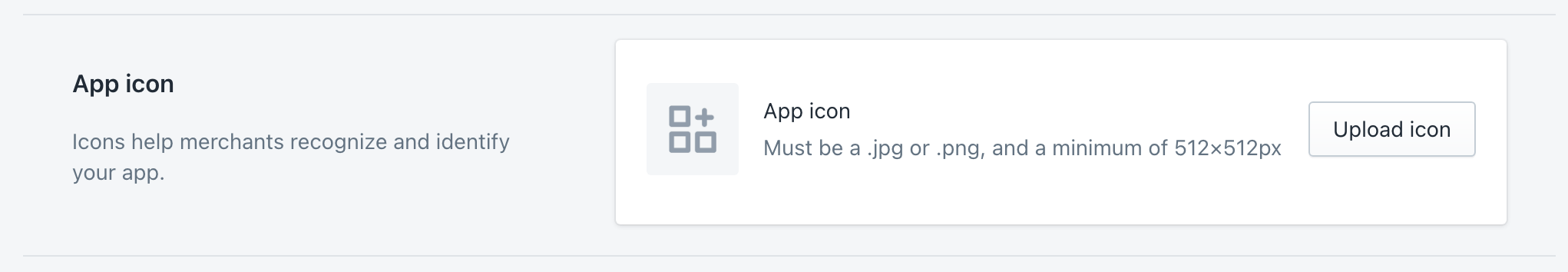 Shopify Partners App Icon upload