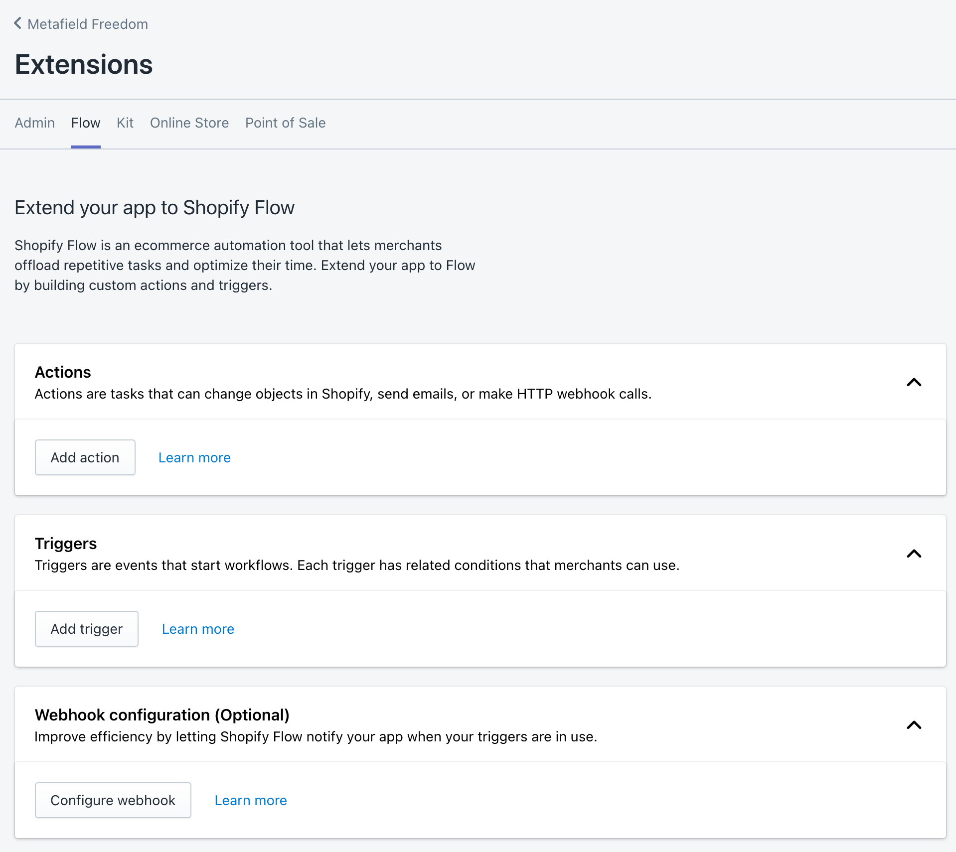 Shopify Partners - Extension: Shopify Flow