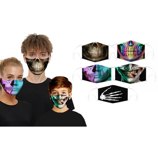 3D Halloween Special Scary Faces Reusable Masks