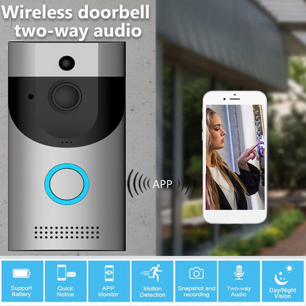 Wireless WiFi DoorBell Smart Video Phone Intercom Two-Way Talk  For Home Or Apartment Security