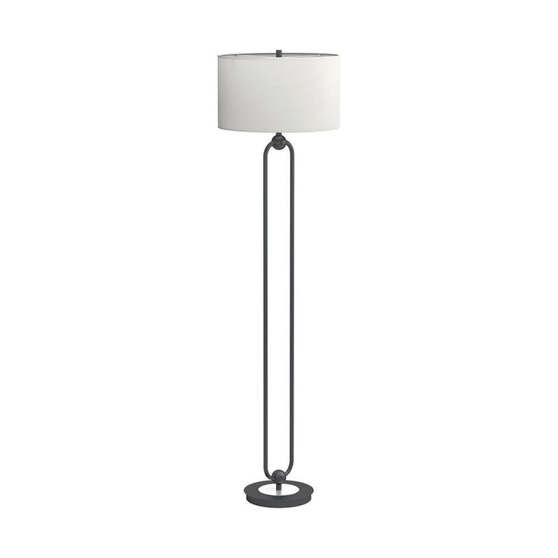 White - Drum Shade Floor Lamp White And Orb