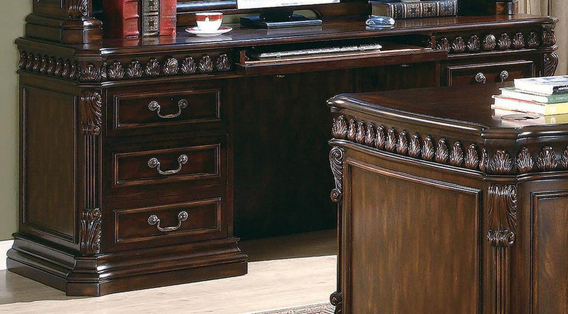 Tucker Collection - Tucker 6-drawers Credenza Desk Rich Brown