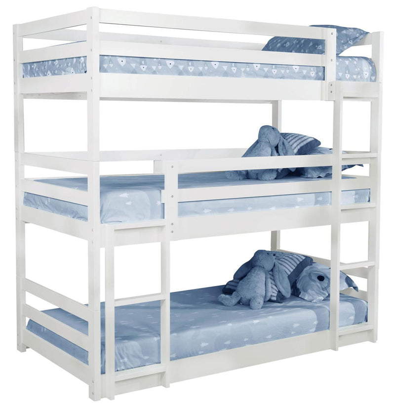 Sandler Triple Bunk Bed - Sandler Twin Triple Bunk Bed White