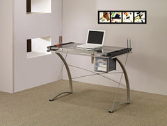 Melo Collection - Melo Drafting Desk With 3-drawer Champagne