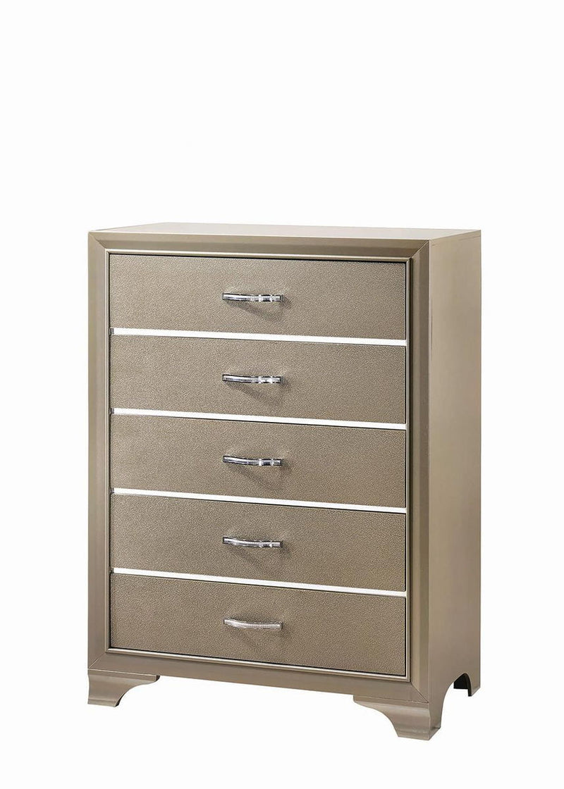 Beaumont 5-drawer Rectangular Chest Champagne