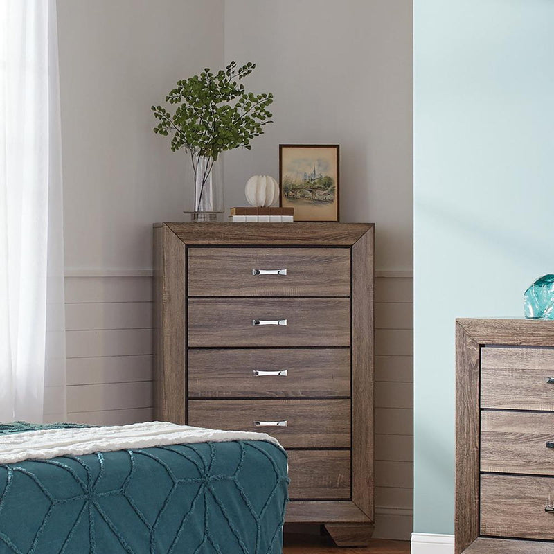 Kauffman Collection - Kauffman 5-drawer Chest Washed Taupe