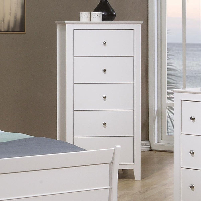 Selena Collection - Selena 5-drawer Chest White
