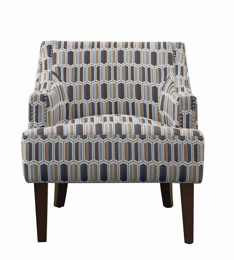 Flowery - Gideon Transitional Geometric Accent Chair