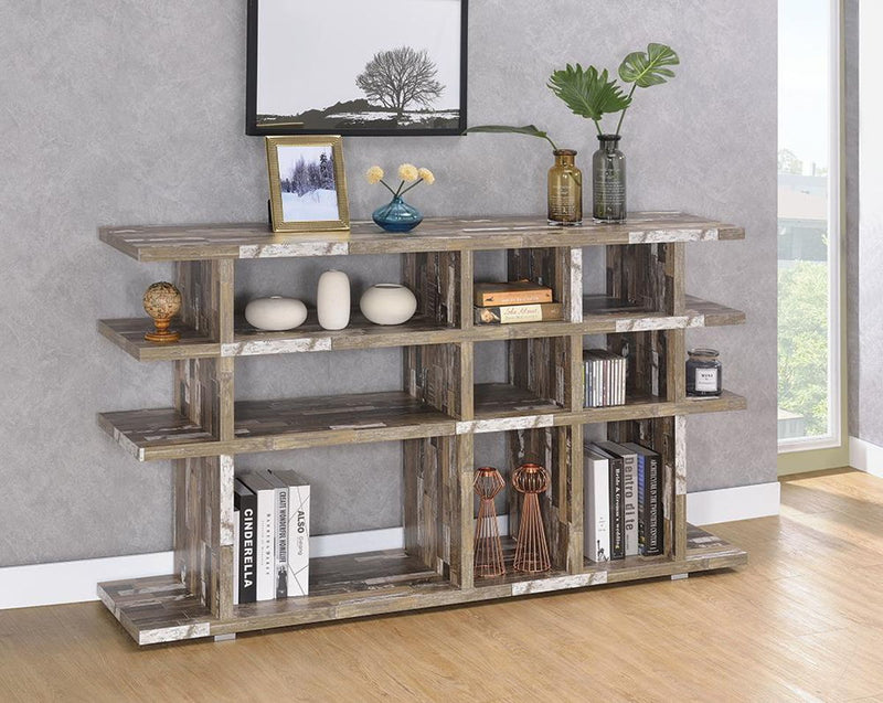 Home Office : Bookcases - 3-tier Open Bookcase Salvaged Cabin