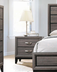 Watson 2-drawer Nightstand Grey Oak And Black