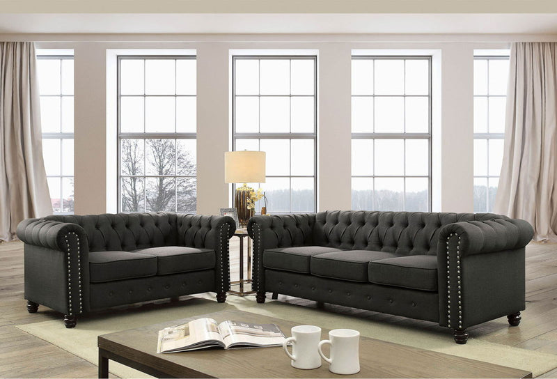 Winifred - Loveseat - Gray