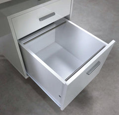 Lawtey Floating Top Office Desk White Gloss