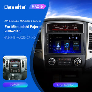 "Dasaita Car Multimedia Player 9"" Android 10 For Mitsubishi Pajero V97 V93 Radio 2006 2007 2008 2009 GPS Stereo Carplay"
