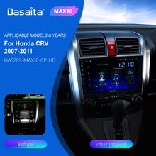 "Load image into Gallery viewer, Dasaita Car radio Android 10.0 1 din for Honda CRV GPS 2007 2008 2009 2010 2011 Navigation DSP 9"" IPS Touch Screen 1280*720"