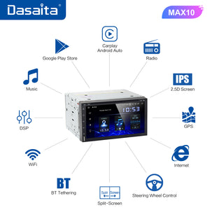 "Dasaita 10.2"" IPS Screen Android 10.0 Car Multimedia Radio for Toyota RAV4 GPS 2014 2015 2016 2017 Bluetooth MP3 MAX10 64G ROM"