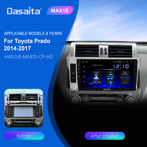 "Dasaita 1 Din Android 10.0 Car Radio Navigation for Toyota Prado 2014 2015 10.2"" IPS HD Video OUT MP3 Bluetooth 1280*720 RAM 4GB Carplay"