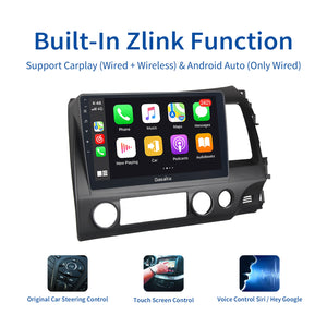 "Dasaita 10.2"" 1 Din Car Android 10.0 Radio for Honda Civic 2006 2007 2008 2009 2010 2011 1280*720 GPS Carplay HD Video OUT Bluetooth"