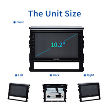 "Load image into Gallery viewer, Dasaita 10.2"" Android 10.0 Car Stereo for Toyota Land Cruiser Radio 2016 2017 2018 GPS Touch Screen Navigation 1280*720"
