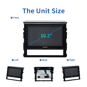 "Dasaita 10.2"" Android 10.0 Car Stereo for Toyota Land Cruiser Radio 2016 2017 2018 GPS Touch Screen Navigation 1280*720"