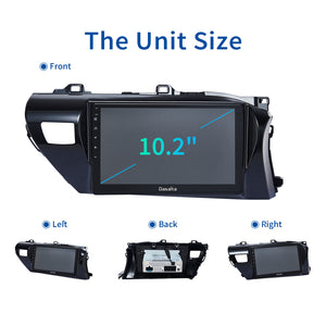 "Dasaita 10.2"" IPS Car Radio Player TDA7850 Android 10.0 for Toyota Hilux 2016 2017 2018 Bluetooth GPS Navigation 1 din Stereo"