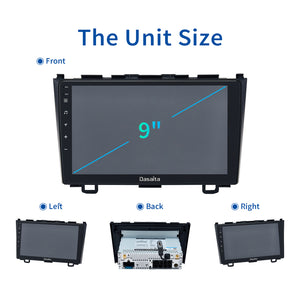 "Dasaita Car radio Android 10.0 1 din for Honda CRV GPS 2007 2008 2009 2010 2011 Navigation DSP 9"" IPS Touch Screen 1280*720"
